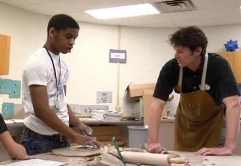 Sculptor Teaches Art At Central High School
