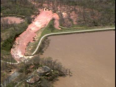 Flood Control Dam Damaged