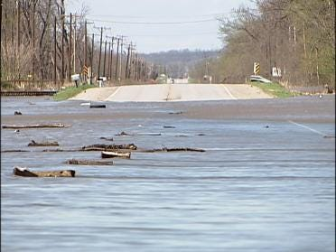 Flooding Creek Threatens Nearby Homes