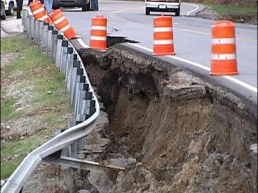 Landslide Closes Busy Highway