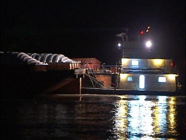 Runaway Barges Shut Down Bridge