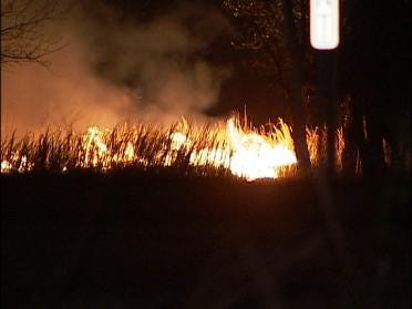 Overnight Grass Fire