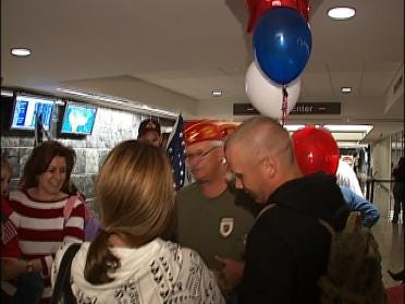 Marine Receives Warm Welcome Home