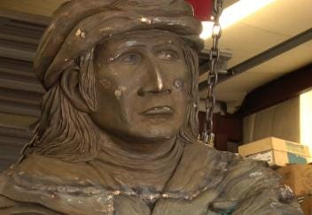 Sculpting A Tribute To Sequoyah