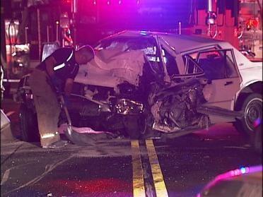 Driver Crashes Car Into Telephone Pole