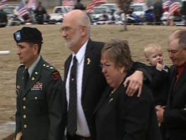 Memorial Held For Fallen Soldier