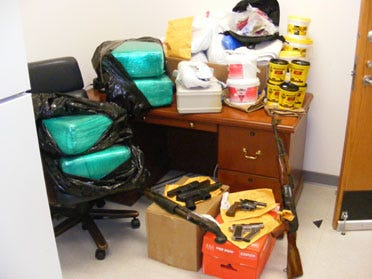 Drugs, Guns And Money Seized In Muskogee
