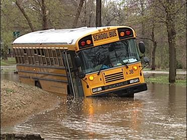 Spring Storms Spell Trouble For School Buses