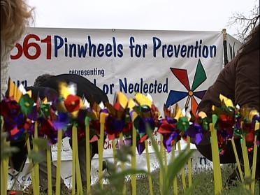 Pinwheels Honor Child Abuse Victims