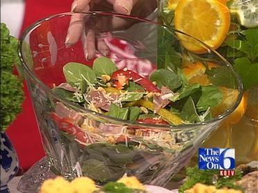 Warm Spinach And Basil Salad