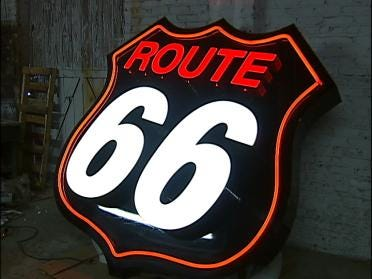 Route 66 Plaza Vandalized
