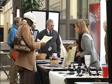 Job Fair Searching For Potential Workers