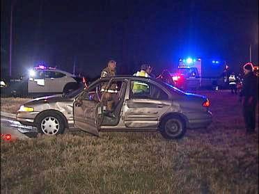 Driver Injured After Semi Strikes Car