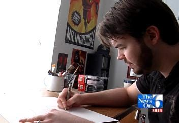 Man Finds His Passion In Comic Book Art