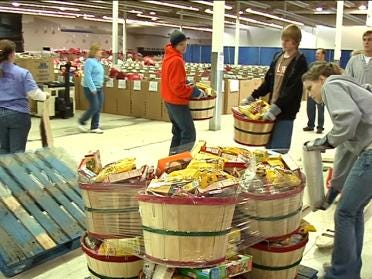 Salvation Army Makes Baskets For The Needy