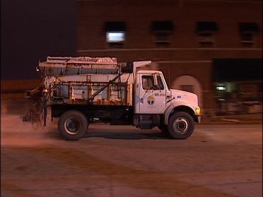 Sand Trucks Attack Oklahoma Roads