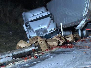 Slick Roads Lead To Rash Of Accidents