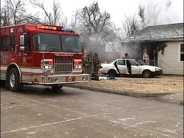 Firefighters Battle Tulsa House Fire