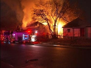 Fire Reduces Tulsa Home To Rubble
