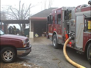 Tulsa Home's Attic Catches Fire