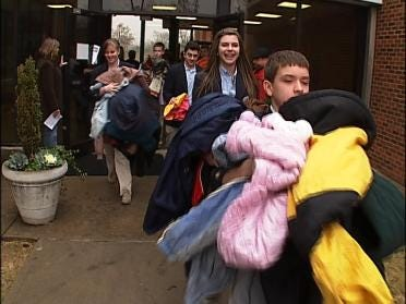 Tulsa Monte Cassino Students Collect Coats