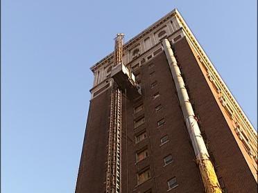 Owl At Tulsa's Mayo Hotel Slows Construction Work
