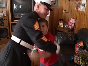 U.S. Marines Play Santa