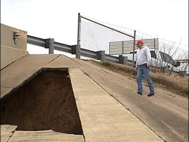 Erosion Blamed For Hole Near Tulsa Bridge