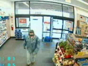 Suspected Walgreen's Robber Caught On Tape