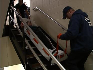 Tulsa Firefighters Practice Hospital Evacuations