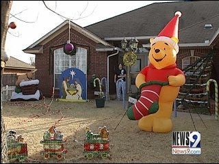 Holiday Grinch Plagues Harrah, Oklahoma