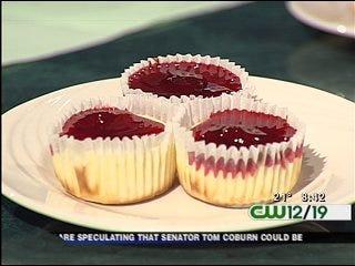 Valentine's Mini Cheesecakes