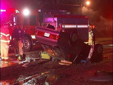 Wet Roads Blamed In Crash