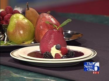 Brachetto Poached Pear