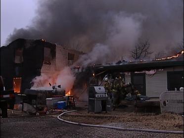 Fire Destroys Rural Home