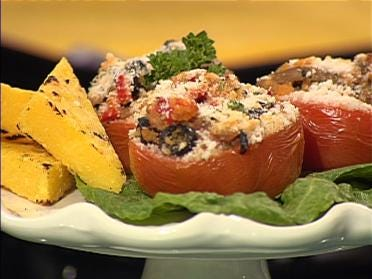 Stuffed Tomatoes With Broiled Polenta