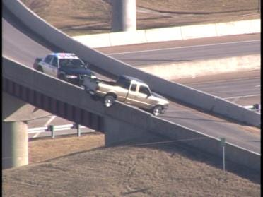 Hanging Truck Shuts Down Exit