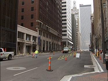 Tulsa's South Boston Avenue Switches To Two-Way Traffic
