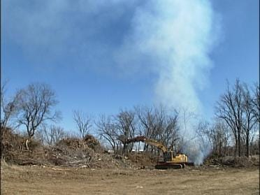 Burning Up Storm Debris