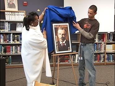 Commemorative Stamp Unveiled At High School