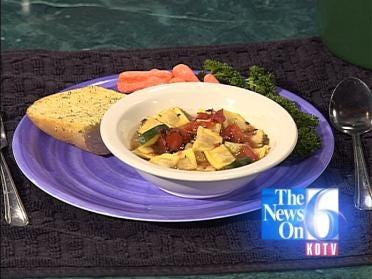 Tomato-Cheese Ravioli Soup