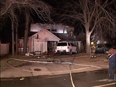 House Collapses With Firefighters Inside