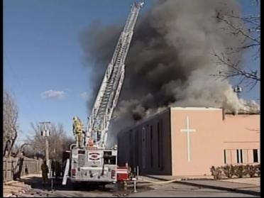 Crews Battle Church Blaze