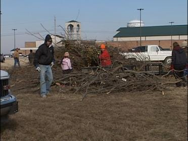 Church Members Help Out With Clean-Up Effort