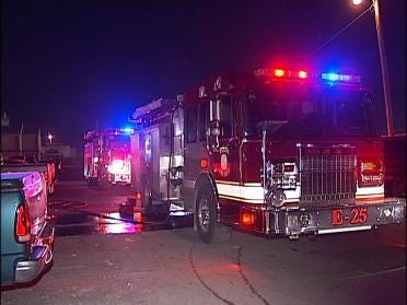 Fire Rekindles At Apartment Complex