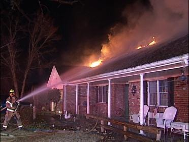 Fire Destroys A Home Overnight