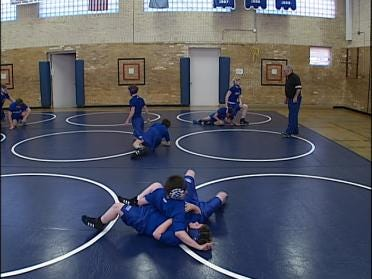 Wrestlers Go After Championship