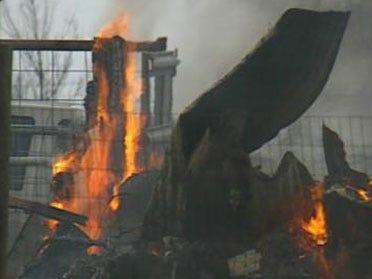 Strong Winds Fan House Fire Flames
