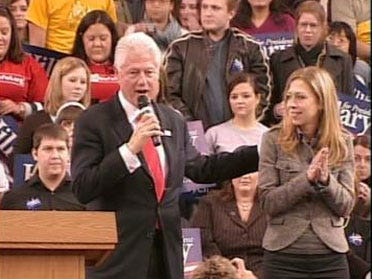 Clinton Campaigns For Wife In Norman