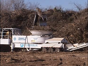 Storm Cleanup Goes On With Burn Ban In Place